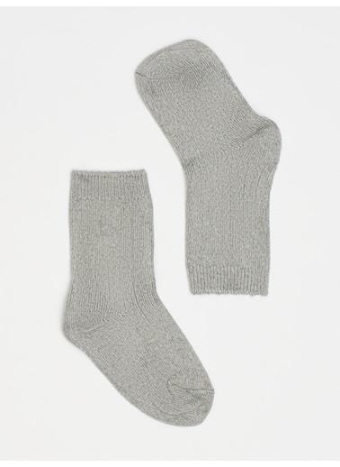 Katia & Bony 001 Cashmere Çocuk Soket Çorap - Gri Melanj Gri